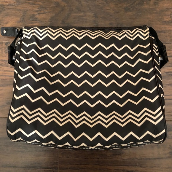 Missoni for Target Handbags - Missoni Target black shire chevron cosmetic bag